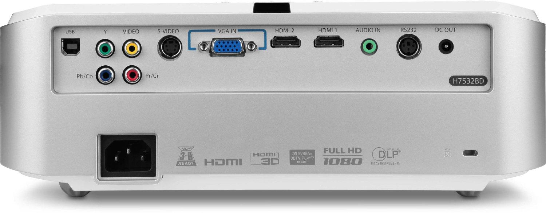 Acer H7532BD inputs