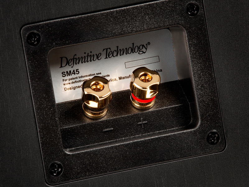 Definitive Technology SM45 speaker terminals