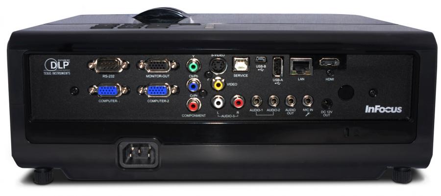InFocus IN3128HD inputs