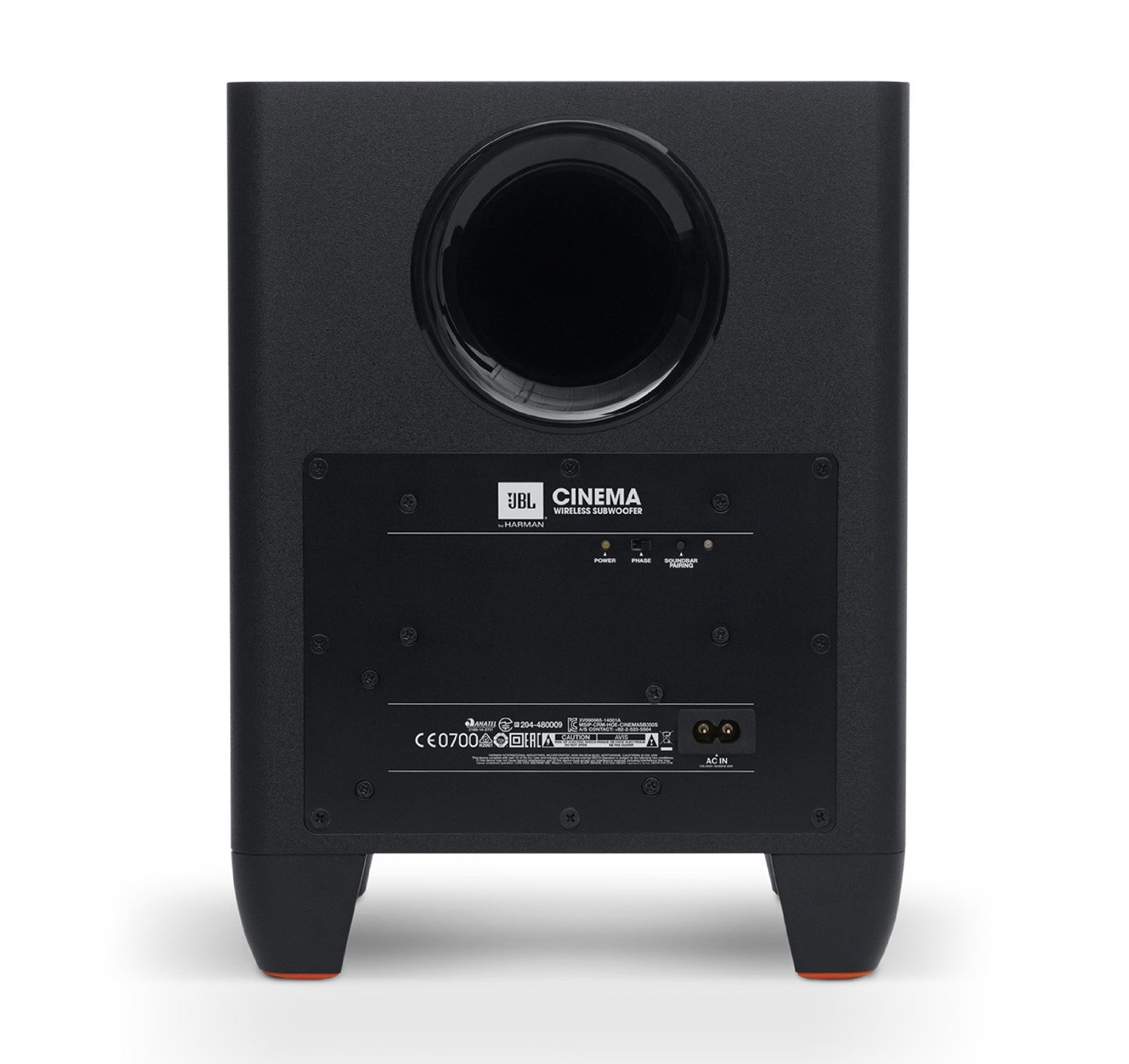 JBL Cinema SB250 subwoofer back