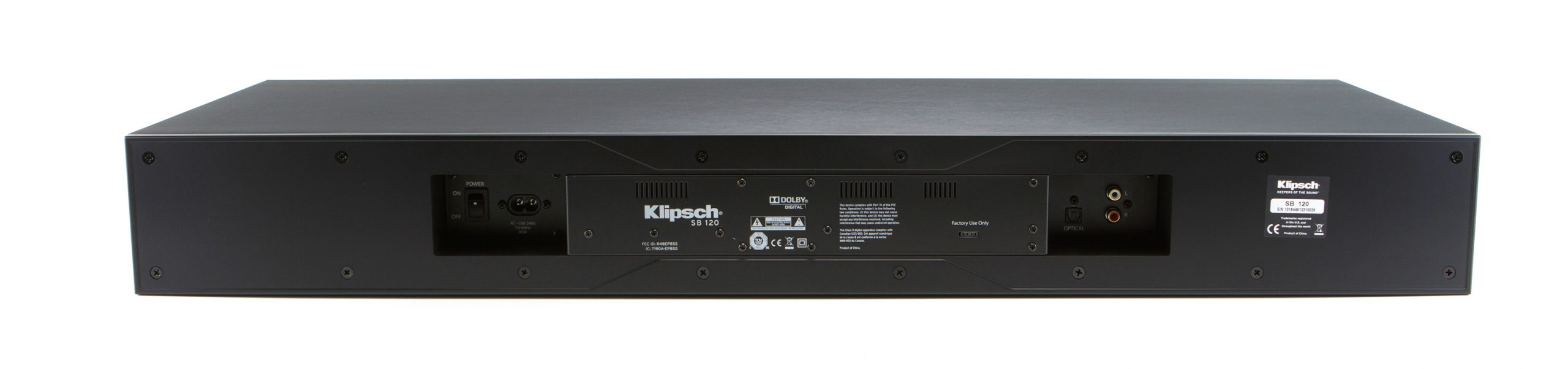 Klipsch SB 120 inputs