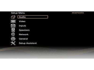 Marantz AV8801 setup menu