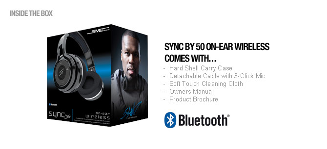 SMS Audio SYNC by 50 in the box
