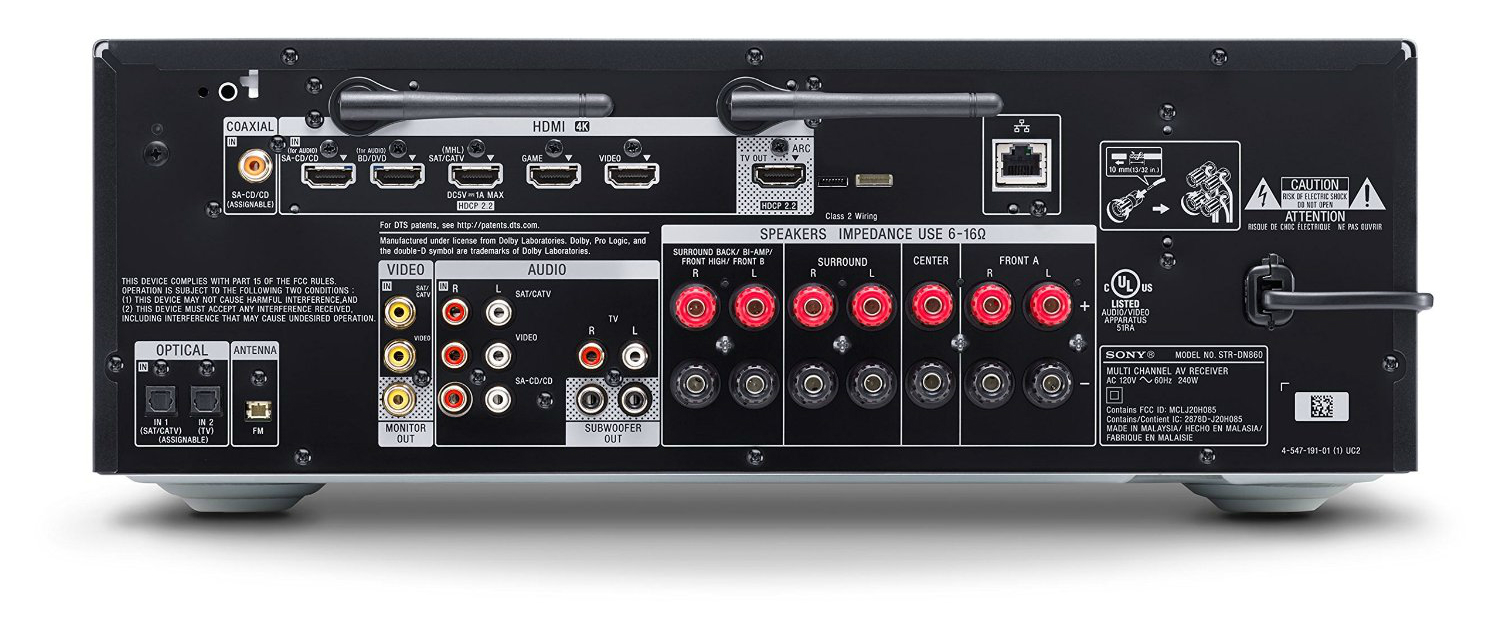 Sony STR-DN860 inputs