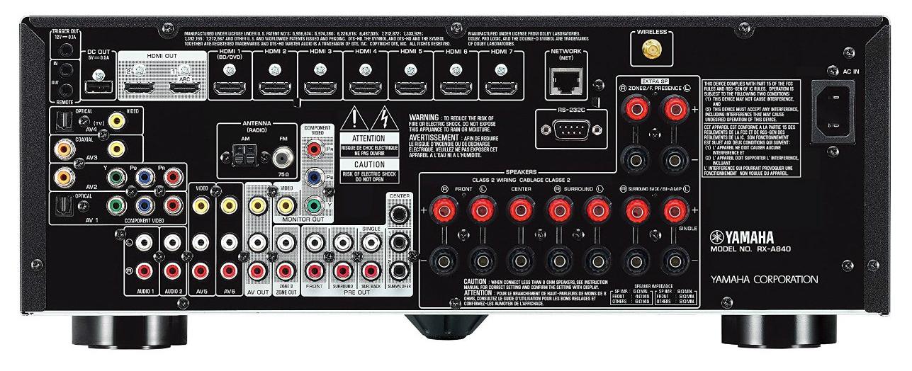 Yamaha RX-A840 inputs