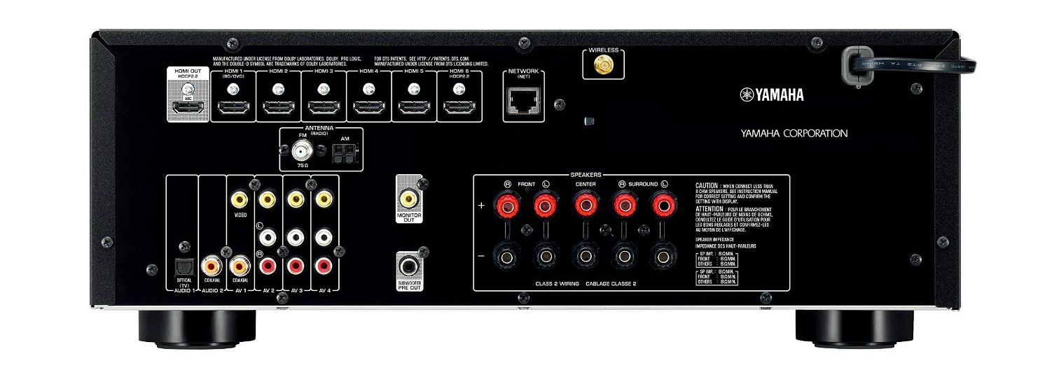 Yamaha RX-V479 inputs