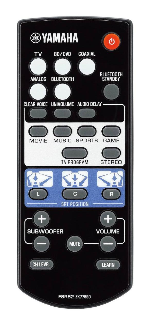 yamaha srt-1000 remote control